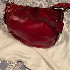 RED COACH BAG - AUTHENTIC